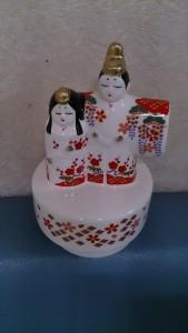 陶器のひな人形オルゴール