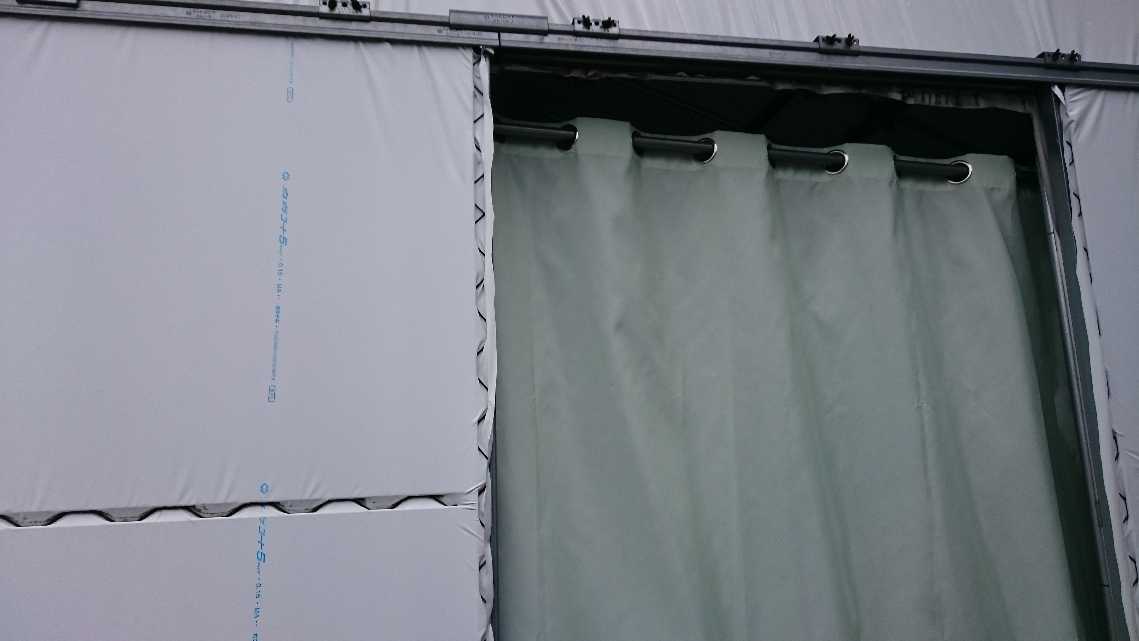 シャワーカーテン 外側